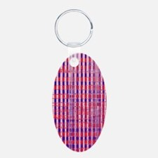 Red White Blue Distressed P Keychains