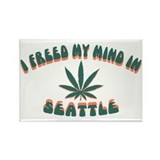 weed-seattle-CAP Rectangle Magnet