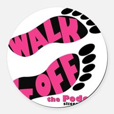 Walk it Off Logo_with Slice Round Car Magnet