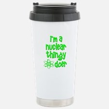 funny nuclear atomic radiation Travel Mug