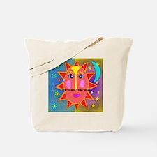 Retired Teacher sun moon pillow Tote Bag