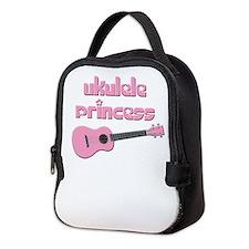 girls ukulele princess Neoprene Lunch Bag