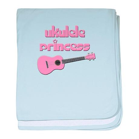 girls ukulele princess baby blanket