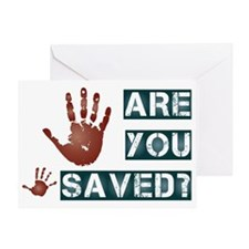 Are you saved? Greeting Card