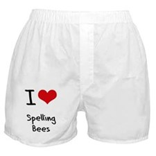 I love Spelling Bees Boxer Shorts