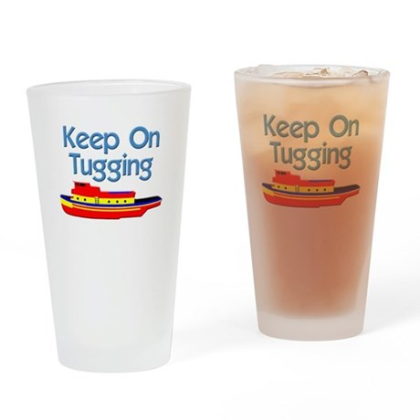 tugboat tug boat tugs Drinking Glass