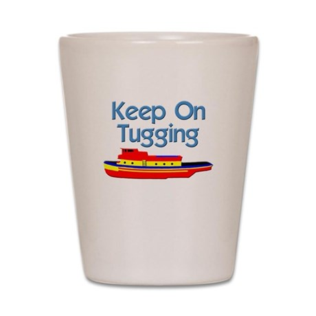 tugboat tug boat tugs Shot Glass