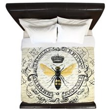 Vintage French Queen Bee King Duvet