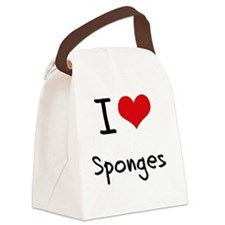 I love Sponges Canvas Lunch Bag