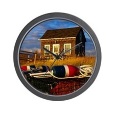 Lobstermens Shack Wall Clock