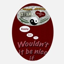 Wouldnt it be nice journal Oval Ornament