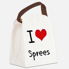I love Sprees Canvas Lunch Bag