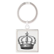 Vintage Crown Square Keychain