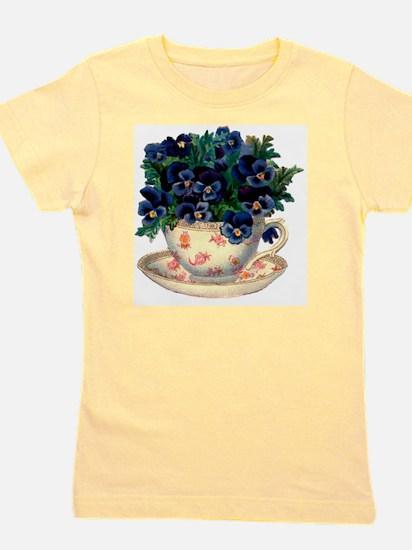 Teacup Flowers Girl's Tee