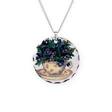 Teacup Flowers Necklace