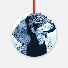 dachshund style Round Ornament