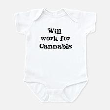 Will work for Cannabis Onesie