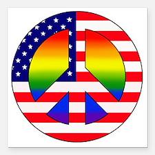 "Gay Patriot Square Car Magnet 3"" x 3"""
