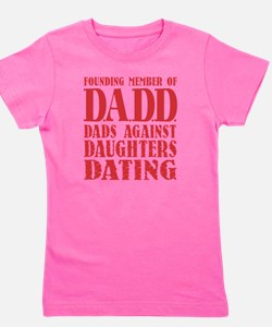 DADD Dads Against Daughters Dating (Red Girl's Tee