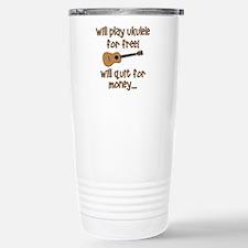 funny ukulele uke designs Travel Mug