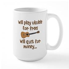 funny ukulele uke designs Mugs