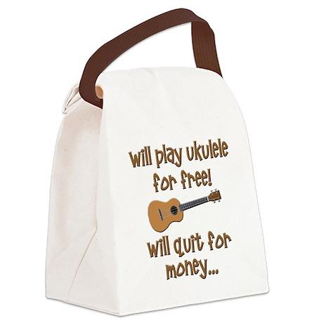 funny ukulele uke designs Canvas Lunch Bag
