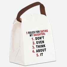 5 Rules For Dating My Daugther Canvas Lunch Bag