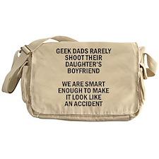 Geek Dads Rarely Shoot (Lt) Messenger Bag
