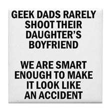 Geek Dads Rarely Shoot (Lt) Tile Coaster