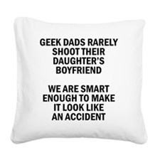 Geek Dads Rarely Shoot (Lt) Square Canvas Pillow