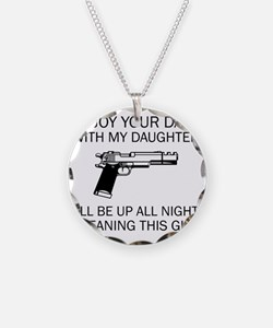 Cleaning This Gun Necklace