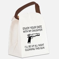 Cleaning This Gun Canvas Lunch Bag