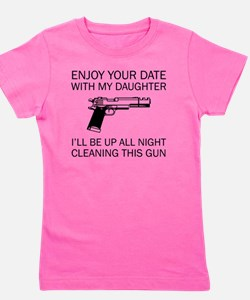 Cleaning This Gun Girl's Tee