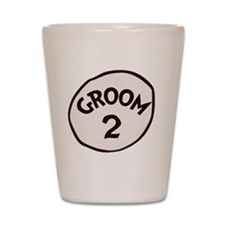 Groom 2 Shot Glass