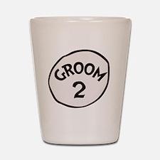Groom 2 Shot Glass