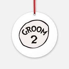 Groom 2 Round Ornament
