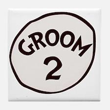 Groom 2 Tile Coaster