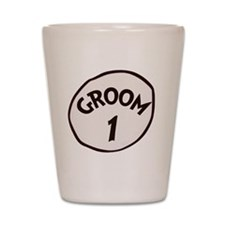 Groom 1 Shot Glass