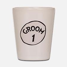 Groom 1 Shot Glass