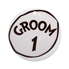 Groom 1 Round Ornament