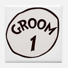Groom 1 Tile Coaster