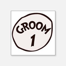 "Groom 1 Square Sticker 3"" x 3"""