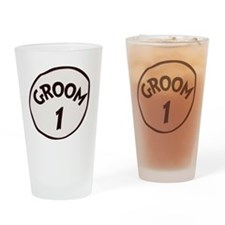 Groom 1 Drinking Glass