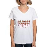 No Blood for Oil Women's V-Neck T-Shirt