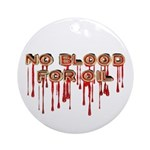 No Blood for Oil Keepsake Ornament (Round)