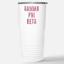 Gamma Phi Beta Carnatio Stainless Steel Travel Mug