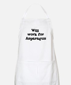 Will work for Asparagus BBQ Apron