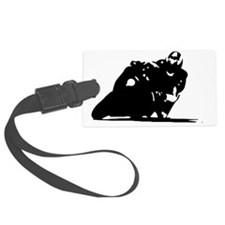 Motorcycle Silhouette Luggage Tag