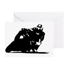 Motorcycle Silhouette Greeting Card