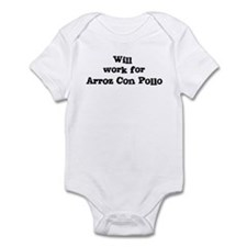 Will work for Arroz Con Pollo Infant Bodysuit